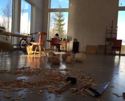 An atelier for artists in residence